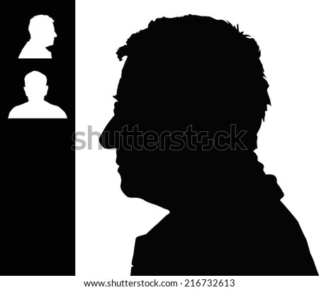 Silhouette Old People Stock Images Royalty Free Images