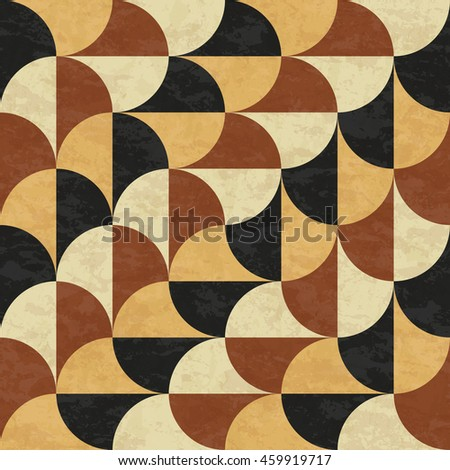 Old marble floor, abstract geometric pattern with texture, seamless vector illustration