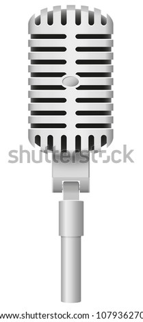 old microphone vector illustration isolated on white background