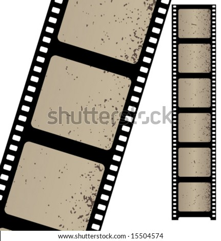 Old negative film strip. Vector. - stock vector