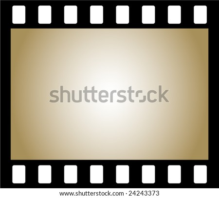 Old negative photo film, frame - stock vector