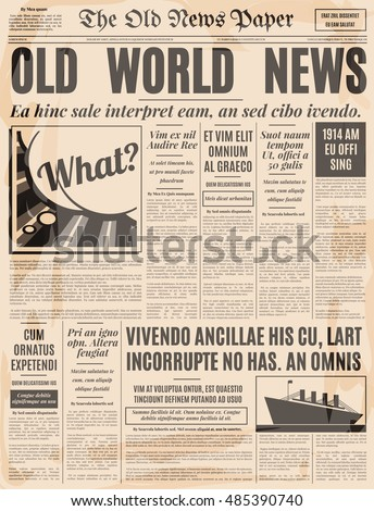 Old Newspaper Stock Images RoyaltyFree Images  Vectors