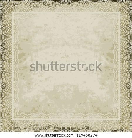 Old ornamental paper. Vintage design - stock vector