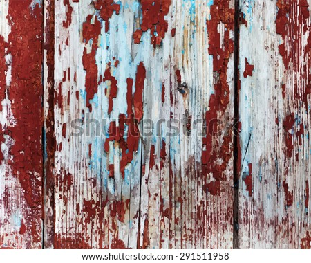Old painted wooden texture.  - stock vector