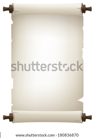 old paper banner , vector drawing