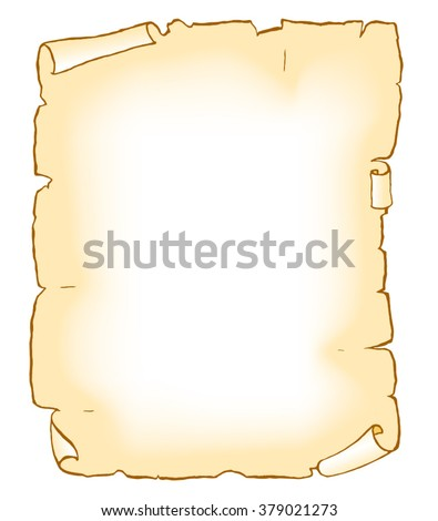 Old Paper Blank Manuscript Template Color Stock Vector 379021273 ...