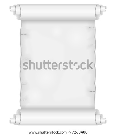Old paper scroll, vector eps10 illustration - stock vector