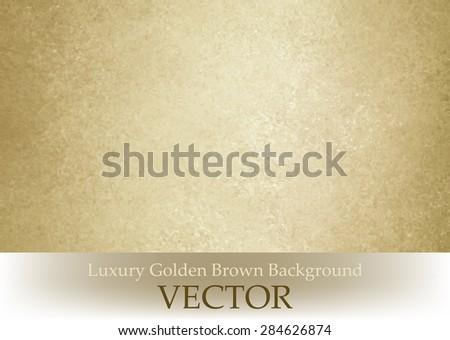 old paper texture vector. gold brown vintage background - stock vector