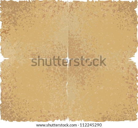 Old paper texture, vector illustration - stock vector