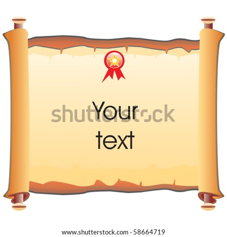 Old paper vector roll - stock vector