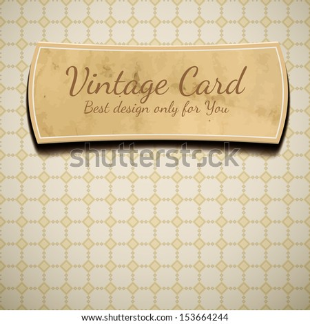 Old paper with label - stock vector