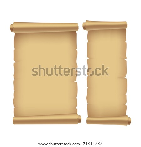 old parchment, vector illustration. Contain gradient mesh - stock vector