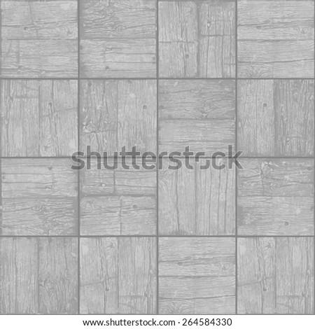 Old parquet floor background - vector monochrome grunge element for design in eps8 - stock vector