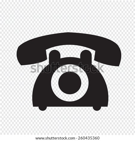 old phone icon - stock vector