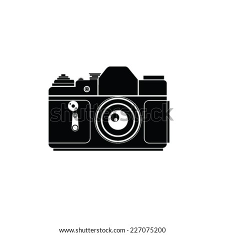 old photo camera vector illustration