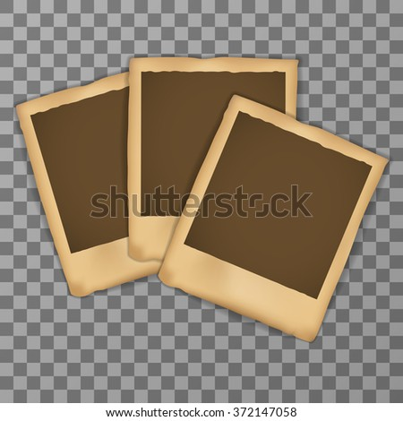 Old Photo frame with shadow - stock vector