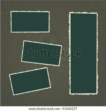 Old Photo Frames. Vector Illustration. - stock vector