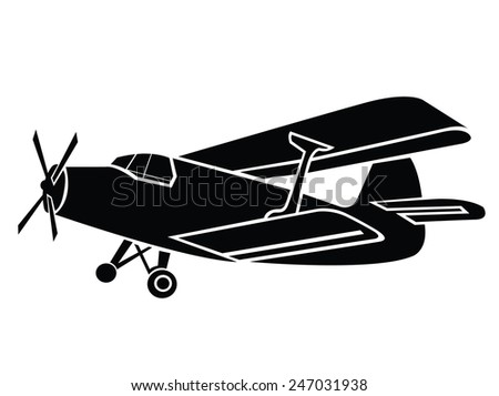 Old Plane Symbol - stock vector