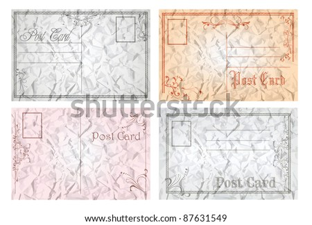 old post cards - stock vector