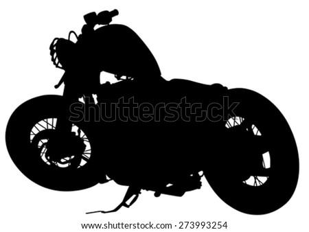 Old retro bike on white background - stock vector