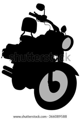 Old retro bike on white background - stock vector