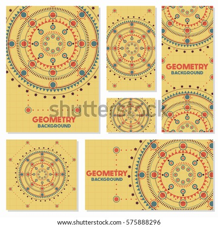 Old Retro Geometry Vintage Style Background Stock Vector 575888296 ...