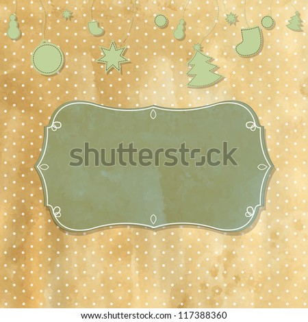 Old Retro Vintage Badge With Polka Dots With Gradient Mesh, Vector Illustration - stock vector