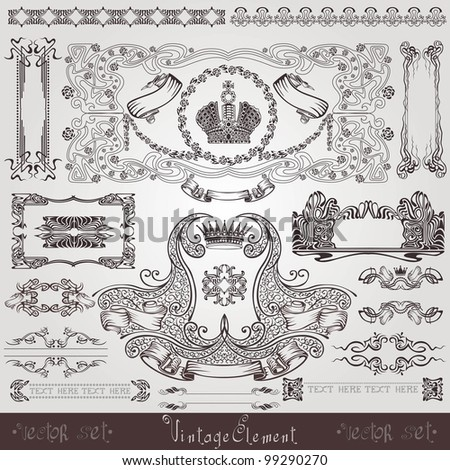old royal label banner element - stock vector