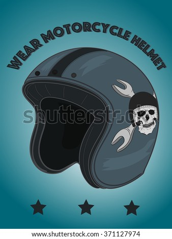 Old school motorcycle helmet