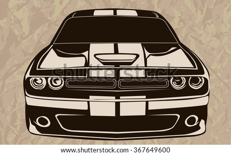 Muscle Car Vector Stock Images Royalty Free Images Vectors