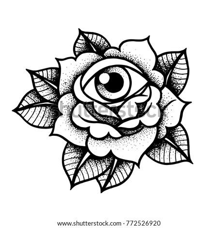 Blackwork Old School Tattoo Designs