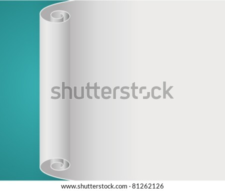 Old scroll paper vector background. Eps 10. - stock vector