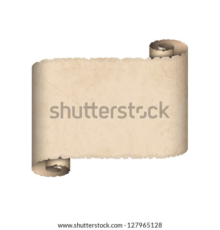 Old scroll paper. Vector EPS10 - stock vector