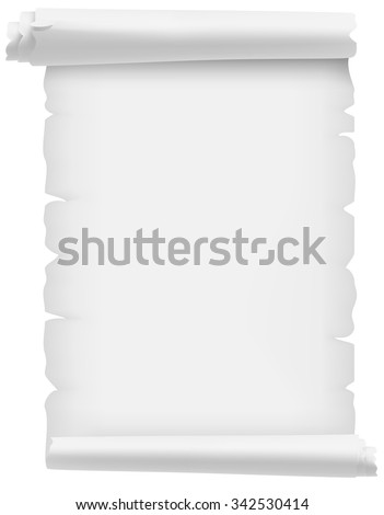 Old scroll white - stock vector