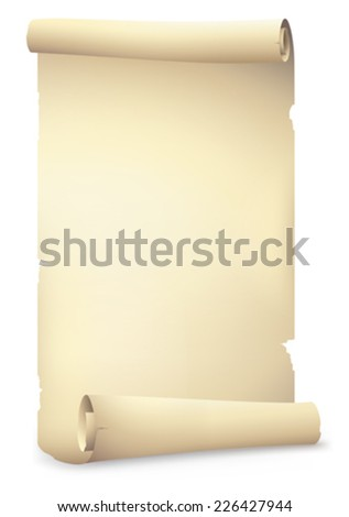 old scrolls paper banner , vector drawing - stock vector