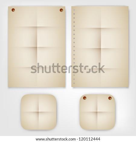 Old Set Paper Vector - stock vector