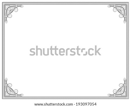 Old style black decorative frame - stock vector