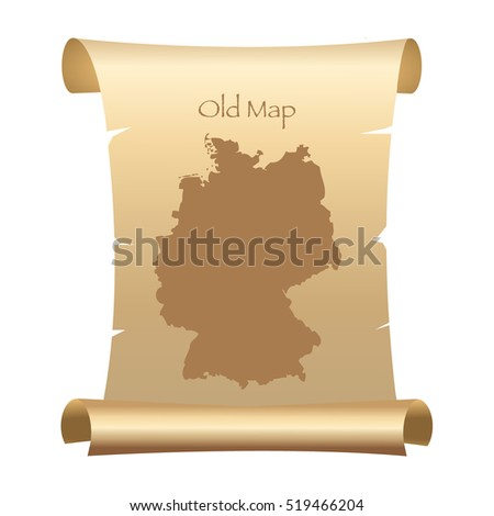 Simple Black Map Germany Isolated On Stock Vector - Germany map simple