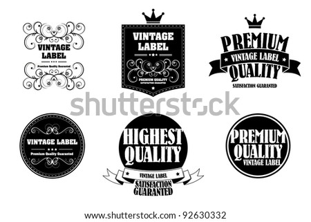 old style monochrome vintage sticker - stock vector