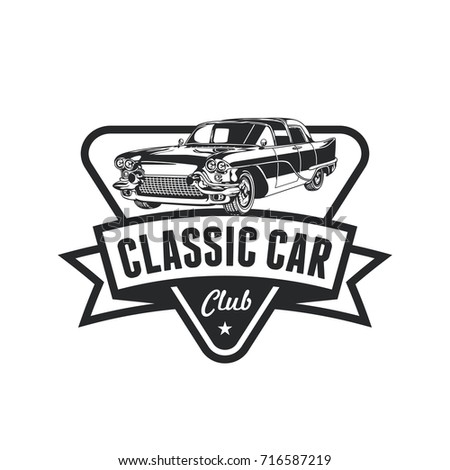 Old Style Vintage Classic Car Vector Stock Vector 716587219