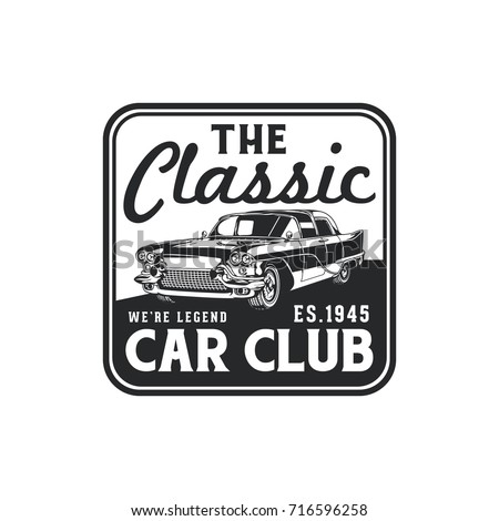 Old Style Vintage Classic Car Vector Stock Vector 716699206
