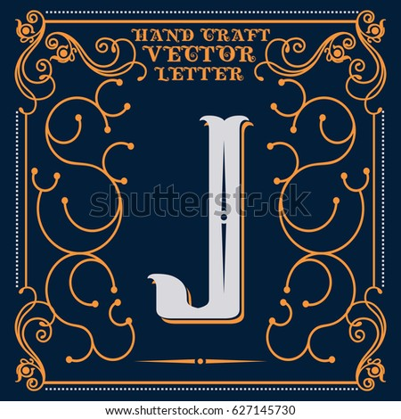 Worksheets How To Write Different Styles Of J Letter j letter script stock images royalty free vectors old style vintage design hand crafted calligraphic sample j