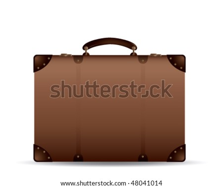 Old Suitcase - stock vector