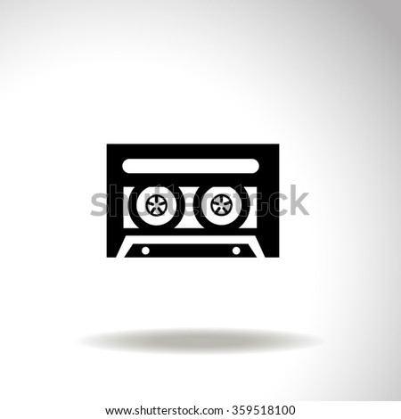 Old tape cassette vector icon. - stock vector