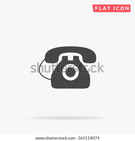 Old Telephone Icon Vector.  - stock vector