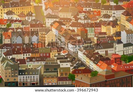Old traditional Europe city background