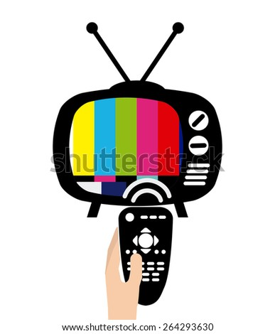 old tv design, vector illustration eps10 graphic  - stock vector