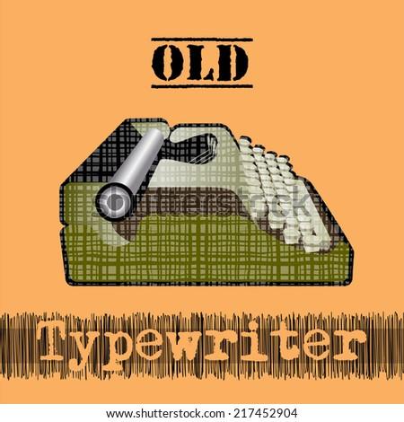 old typewriter - stock vector