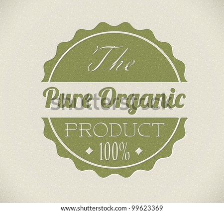 Old vector round retro vintage grunge stamp for bio / organic product