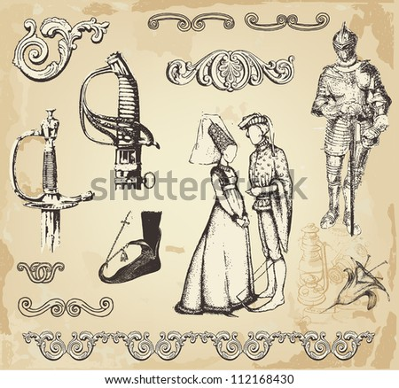 Old vintage illustration - stock vector